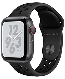AppleWatch Nike+ Series4 GPS+Cellular, 40mm Space Gray Aluminum Case with Anthracite Black Nike Sport Band
