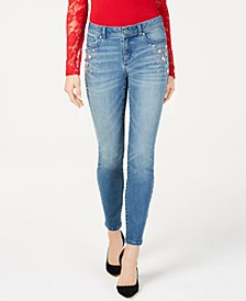 INC Rhinestone-Studded Skinny Jeans, Created for Macy's