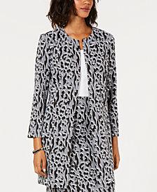 Alfani Printed Jacquard A-Line Jacket, Created for Macy's