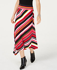 I.N.C. Striped Maxi Skirt, Created for Macy's