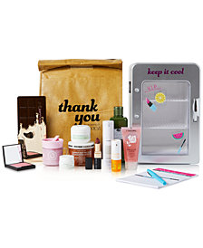 Macy's Beauty Influencer Keep it Cool Set with Skincare Fridge and Food-Inspired Products, Created For Macy's