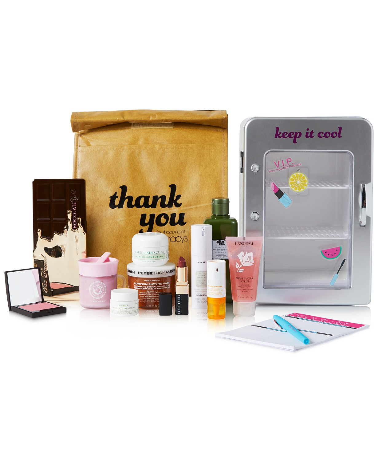 Macy S Beauty Influencer Keep It Cool Set With Skincare Fridge And Food Inspired Products