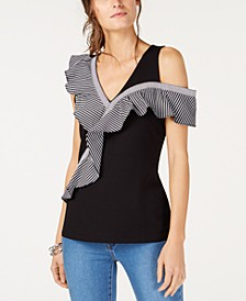 INC Asymmetrical Ruffle-Detail Top, Created for Macy's