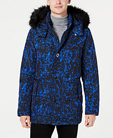 Michael Kors Men's Printed Polar Parka
