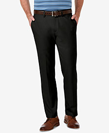 Haggar Men's Cool 18 PRO Stretch Straight Fit Flat Front Dress Pants