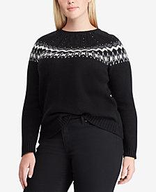 Lauren Ralph Lauren Plus Size Beaded Sweater