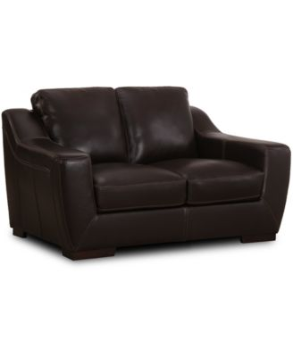 """CLOSEOUT! Gansey 67"""" Leather Loveseat"""