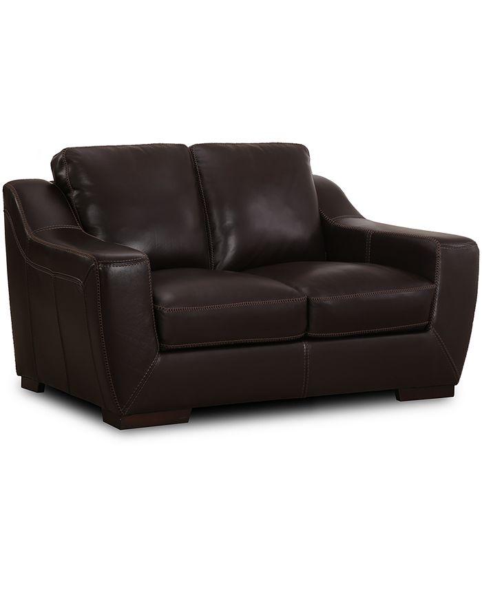 "Furniture - Gansey 67"" Leather Loveseat"