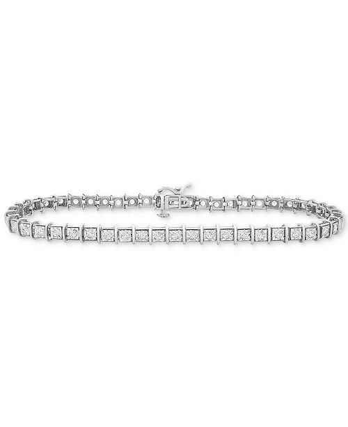 Diamond Miracle Plate Tennis Bracelet 1 Ct T W In 10k Gold Or White
