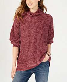 American Rag Juniors' Balloon-Sleeved Turtleneck Sweater, Created for Macy's