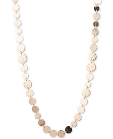 "Anne Klein Gold-Tone Pavé Disc 42"" Strand Necklace"