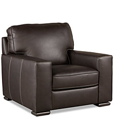 "Aloise 41"" Leather Arm Chair"