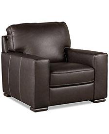 """Aloise 41"""" Leather Arm Chair"""