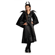 Maleficent Christening Deluxe Black Dress Big Girls Costume