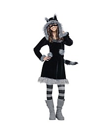 Sweet Faux Raccoon Little and Big Girls Costume