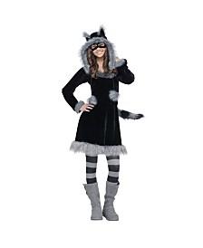 Sweet Faux Raccoon Big Girls Costume