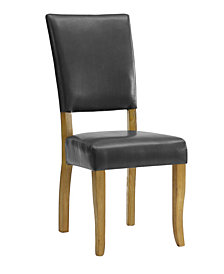 Set of 2 Open Back Parsons Dining Chairs in Charcoal