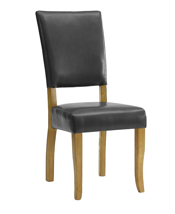 Walker Edison Set of 2 Open Back Parsons Dining Chairs in Charcoal