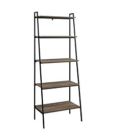 72 inch Metal and Wood Ladder Shelf