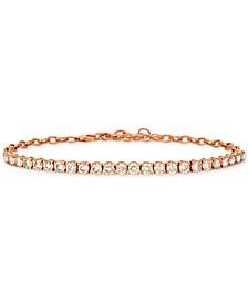 Diamond Link Bracelet (4 ct. t.w.) in 14k Rose Gold