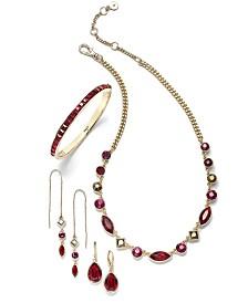 DKNY Gold-Tone Crystal & Stone Jewelry Separates