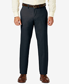 J.M. Haggar Sharkskin Straight Fit Flat Front Flex Waistband Dress Pants