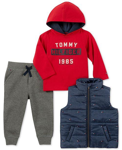 cc86eae5a129 Tommy Hilfiger Baby Boys 3-Pc. Vest