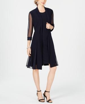 1920s Shawls, Wraps, Scarves, Fur Stoles R  M Richards Embellished Dress  Duster Jacket $109.00 AT vintagedancer.com