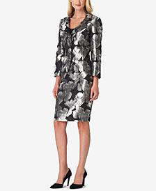 Tahari ASL Petite Floral Jacquard Skirt Suit