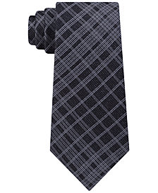 Calvin Klein Men's Seasonal Tri Plaid Slim Tie