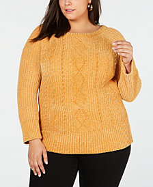Planet Gold Trendy Plus Size Chenille Sweater