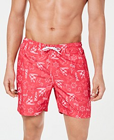 "Men's 6 1/4"" Volley Printed Swim Trunks"