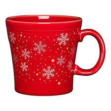 Fiesta Scarlet Snowflake Tapered Mug