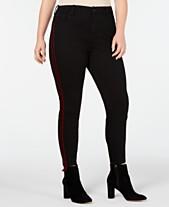1abaed5ebbc Celebrity Pink Trendy Plus Size Velvet Varsity-Stripe Skinny Jeans