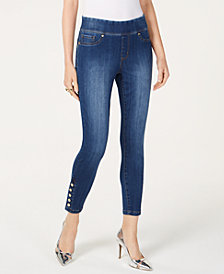Thalia Sodi Pull-On Snap-Hem Jeggings, Created for Macy's
