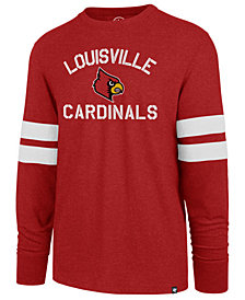'47 Brand Men's Louisville Cardinals Long Sleeve Scramble T-Shirt
