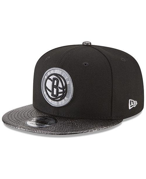 online store ba43f 9aa74 New Era Brooklyn Nets Snakeskin Sleek 9FIFTY Snapback Cap ...