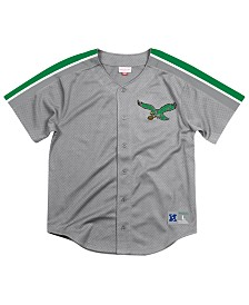 Mitchell & Ness Men's Philadelphia Eagles Winning Team Mesh Button Front Jersey