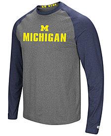 Colosseum Men's Michigan Wolverines Social Skills Long Sleeve Raglan Top