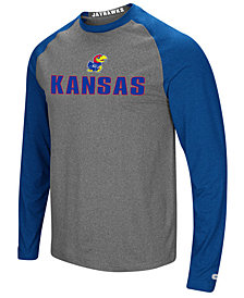 Colosseum Men's Kansas Jayhawks Social Skills Long Sleeve Raglan Top