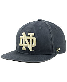 '47 Brand Notre Dame Fighting Irish Navy Go Shot Captain Snapback Cap