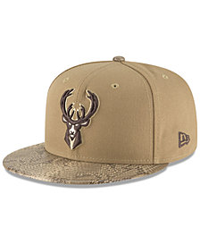 New Era Milwaukee Bucks Snakeskin Sleek 59FIFTY FITTED Cap
