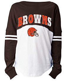 5th & Ocean Cleveland Browns Slub Long Sleeve T-Shirt, Girls (4-16)