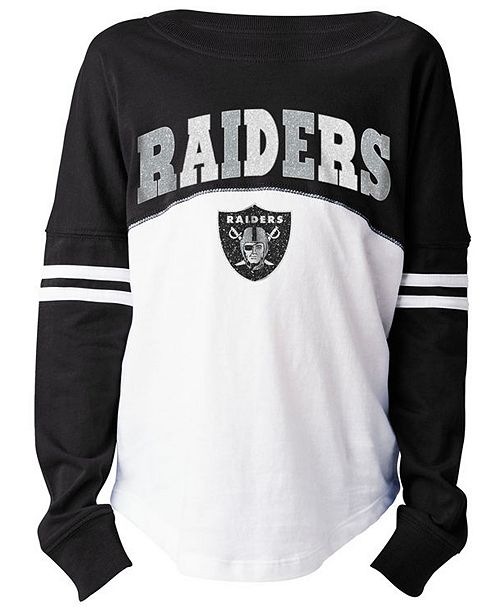 56d6ed775 5th   Ocean Oakland Raiders Slub Long Sleeve T-Shirt