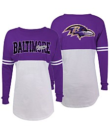 5th & Ocean Women's Baltimore Ravens Sweeper Long Sleeve T-Shirt