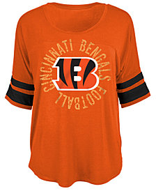 5th & Ocean Women's Cincinnati Bengals Circle Logo T-Shirt