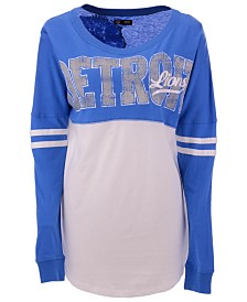 5th & Ocean Women's Detroit Lions Sweeper Long Sleeve T-Shirt