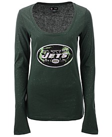 Women's New York Jets Sweeper Long Sleeve T-Shirt
