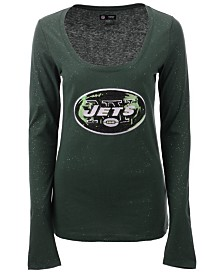 5th & Ocean Women's New York Jets Sweeper Long Sleeve T-Shirt