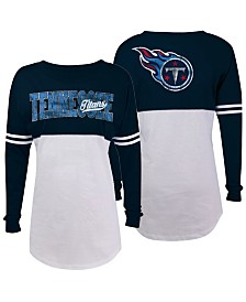 5th & Ocean Women's Tennessee Titans Sweeper Long Sleeve T-Shirt